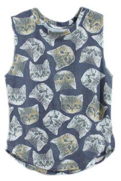 ROMWE   Sleeveless Cats' Faces Print Dark-blue T-Shirt, The Latest Street Fashion   http://www.romwe.com/sleeveless-cats-faces-print-darkblue-tshirt-p-68830.html?Pinterest=fyerflys