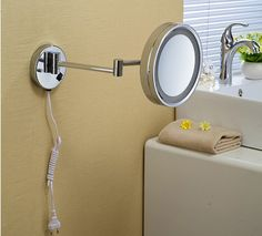 67.43$  Buy now - http://ali4oc.worldwells.pw/go.php?t=32626416724 - new arrival single face LED chrome finished 8' bathroom dressing mirror,bathroom make up mirror, accessories 67.43$