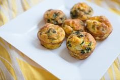 Basil and Cheese Egg Muffins