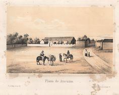 """""""Plaza de Atacama"""". Viaggio nel Deserto di Atacama (Cile) del 1853-54. #viaggi #cile #atacama #esplorazioni #illustrazioni"""