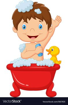 Best Ideas For Bath Illustration Taking A - Unique Baby Bathing Cartoon Cartoon, Charts For Kids, Baby Education, Math For Kids, Pre School, School Projects, Preschool Activities, Kids Learning, Hello Kitty