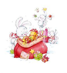 Illustration by Marina Fedotova Christmas Scenes, Christmas Pictures, Christmas Art, Illustration Noel, Christmas Illustration, Christmas Drawing, Christmas Paintings, Cute Images, Cute Pictures