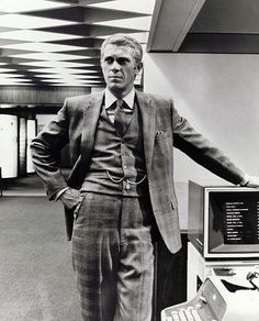 """Steve McQueen in 'The Thomas Crown Affair"""", 1968. In my opinion, the coolest movie ever made. www.melbournemodernist.com"""