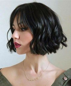 Exquisite Bob Haircuts With Bangs for Women to Look Hot and Trendy Short Thick Wavy Hair, Short Hair With Bangs, Short Hair With Layers, Short Hair Cuts, Short Bob Fringe, Hair Bangs, Bob Haircut With Bangs, Bob Hairstyles With Bangs, Short Hairstyles For Women