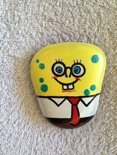 Sponge Bob rock hand painted. SNS DESIGNS