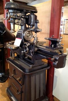 "Gilman Four-in-one"" multi-function machine tool. I would love to be lucky enuf to find an old machine like this for my shop."
