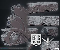 Over the past 2 years I had the fantastic opportunity of working in a small team of immensely talented artists here at Epic Games to put together a few levels for the MOBO 'Paragon'. Here are some of the organic rock elements I created for these Polygon Modeling, 3d Modeling, Zbrush Tutorial, Game Environment, Unreal Engine, Inspirational Artwork, Game Assets, Epic Games, Environmental Art