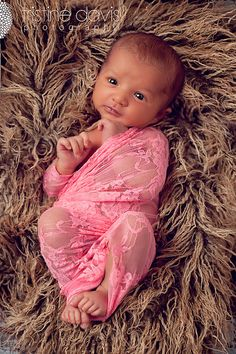 Coral Pink Floral Lace Stretch Wrap - Newborn Baby Girl via Etsy. Cute Baby Pictures, Newborn Pictures, Baby Photos, Newborn Pics, Maternity Photo Props, Newborn Photo Props, Baby Girl Photography, Baby Family, Baby Time