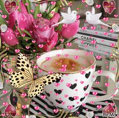 Good Morning I love you Good Morning Coffee, Good Morning Gif, Good Morning Wishes, Good Morning Images, Birthday Wishes, Birthday Cards, Happy Birthday, Beautiful Gif, Beautiful Roses