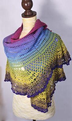 Scheepjes whirl shawl #crochet #shawl #freepattern