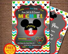 Mickey mouse 1st birthday invitation printable mickey clubhouse mickey mouse birthday invitation 1st birthday invitation filmwisefo Gallery