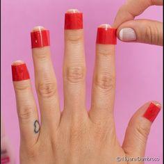 10 truques rápidos para fazer unhas decoradas: confira as fotos e descubra como economizar tempo para criar a nail art Polygel Nails, Diy Nails, Cute Nails, Hair And Nails, Pedicure Nail Art, Nail Art Diy, Nail Manicure, Nail Polish, Korean Nail Art