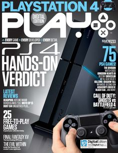 Today's Featured AnyTime™ Title:  Play  PS 4: Hands-on Verdict  Also in this issue: * 75 PS4 Games! * 25 Free-to-Play Games * Call of Duty: Ghosts vs Battlefield 4  For Play and hundreds of other titles visit http://readrapp.com/