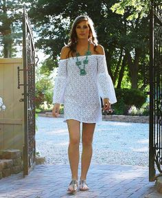 White CROCHET LACE Strapless Off Shoulder by CaraCarinaDesigns, $90.00 @ http://comicsqueers.tumblr.com #clothing #apparel #casual dresses #dress