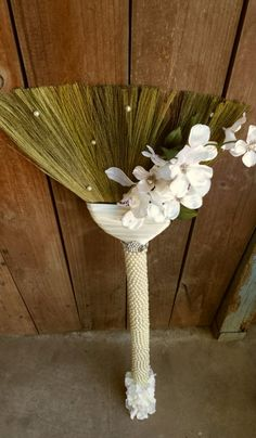 Wedding Broom-Beaded Handle 'Timeless by BroomsBasketsNBrides