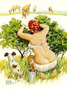 Wall Art Print- Art Reproduction Vintage Sexy Pin-up Girl  Vintage Sexy Plus-size Pin-up Girl Duane Bryers Hilda No.178  Print 8.5x11""