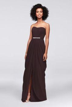 Strapless Chiffon Bridesmaid Dress with Swag Skirt F19650 Davids Bridal  Bridesmaid Dresses c163c1ffb386