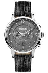 Ingersoll Men's The Grafton Quartz Watch with Grey Dial and Black Leather Strap Mens Designer Watches, Luxury Watches For Men, Casual Watches, Cool Watches, Ingersoll Watches, Shops, Online Watch Store, Black Models, Quartz Watch