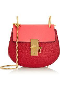 Chloé Drew mini textured-leather shoulder bag | NET-A-PORTER