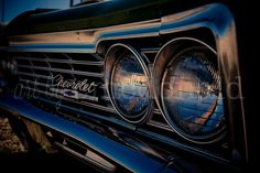 Chevy Impala - Photographic Print - Vintage, Chevrolet, Car, Auto, Automobile, Stripe, Photography, Classic, Wall, Art, Hanging,