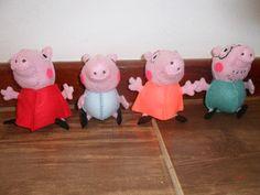Família peppa pig chaveiros