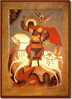 May 6 - Saint George Religious Images, Religious Icons, Religious Art, Holly Pictures, Saint George And The Dragon, Russian Icons, Patron Saints, Orthodox Icons, Gold Art