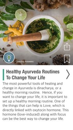 Healthy Ayurveda Routines To Change Your Life - via @CureJoy