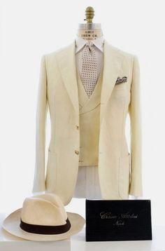 the-suit-men: Cesare Attolini - S/S 2016 sourceMore menswear & suits! Gentleman Mode, Dapper Gentleman, Gentleman Style, Sharp Dressed Man, Well Dressed Men, Mens Fashion Suits, Mens Suits, Suit Men, Men's Fashion