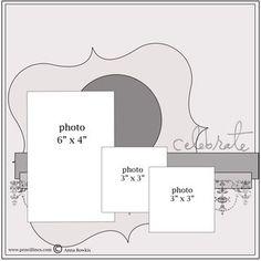 Fun Scrapbook Sketch w/ 3 Photos - Scrapbook.com