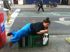 That lady who knocked down a newspaper dispenser just so she could eat a pickle: | 45 Things We Should Just Forget About2012