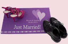 Fußmatte personalisiert! Mit Namen des Brautpaares, Datum und Wunschtext