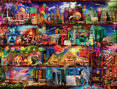Photo Ravensburger 16685 - World of Books - 2000 pieces jigsaw puzzle 1