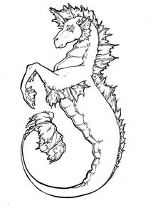 hippocampus coloring pages   Or sea-horse cached similar ...