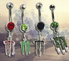 Monster Energy Drink Bellybutton Rings. this is so you Nichole! @Nichole Hosiner