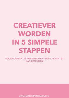 Creativiteit is onmisbaar in het leven en gelukkig kun je je creativiteit stimuleren. Ontdek hier 5 simpele stappen om creatiever te worden.