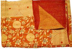 One Kings Lane - Haskell Antiques - Vintage Kantha, Swirls