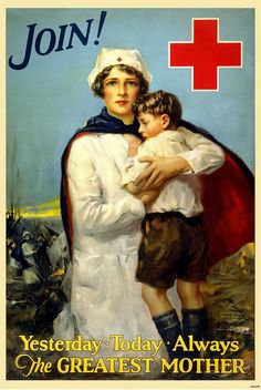 Victorian Women in America | ArtzeeCCC: Vintage Victorian American Red Cross Recruitment Poster WWI