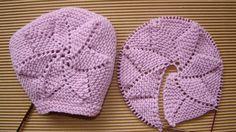 tutorial puntomoderno.com, capota gorrito de bebé tejido a dos agujas, knit baby bonnet Creative Knitting, Knitting For Kids, Crochet Poncho Patterns, Baby Knitting Patterns, Baby Bonnet Pattern, Knitted Hats, Crochet Hats, Kids Hats, Creations