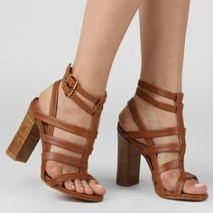 Sandália Colcci Salto Grosso Multi Tiras | Zattini - A nova loja de moda online da Netshoes