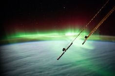 The northern lights are a spectacular night sky phenomenon when viewed from Earth, but from space they transform into something truly amazing. See amazing photos of the Earth's auroras as seen by astronauts on the International Space Station in these images released by NASA. You can see the original NASA aurora gallery here.