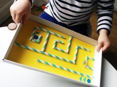 labyrinthe en carton