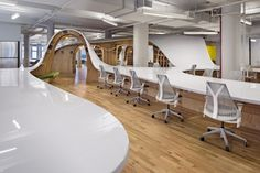 The Barbarian Group | Clive Wilkinson Architects | New York City | Office Snapshots-Community Table