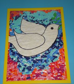 Vredesduif (groepswerk) Harmony Day, Church Bulletin Boards, Candy Flowers, Remembrance Day, Bible Crafts, Holy Spirit, Art Education, Art Lessons, Peace And Love