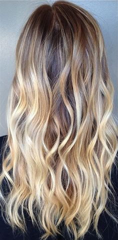 brunette to blonde ombre highlights