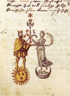 In 1578, Jaroš Griemiller of Třebsko completed an illustrated manuscript containing the first translation into Czech of an alchemical text known as the Rosarium Philosophorum ('The Rosary of the Philosophers').