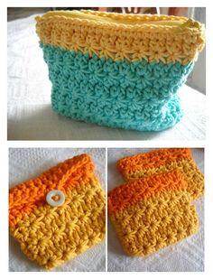 Crochet Star Stitch Coin Purse Free Pattern