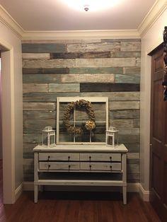 Wood Pallet Wall Art Idea Decor Ideas Pallet Wall Art, Home … - Pallet Furniture Project Art Mural Palette, Palette Diy, Pallet Accent Wall, Pallet Wall Art, Pallet Walls, Pallet Wall Bedroom, Wood On Walls, Wood Accent Walls, Pallet Stairs