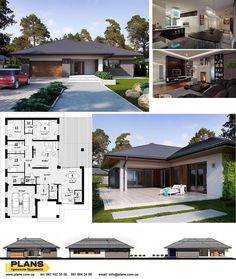 Sims House Plans, House Layout Plans, New House Plans, House Layouts, House Outside Design, House Front Design, Small House Design, Modern Bungalow House, House Construction Plan