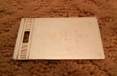 Authentic Tiffany Co Atlas Collection Large Luggage Tag 925 Sterling Silver Purse TAG - AOL Logo - T