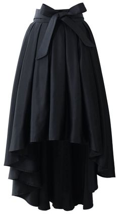 Though not a fan of waterfall skirts, I'll make an exception for this Bowknot Waterfall Skirt in Black.